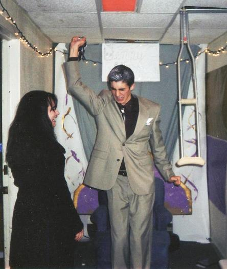 Dan Wootton as famous evangelist Benny Hinn. circa 2000